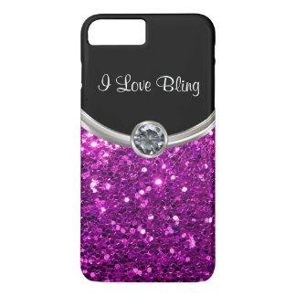 Purple Stylish Bling iPhone 8 Plus/7 Plus Case