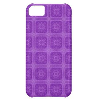 Purple stylish wood pattern iPhone 5C case