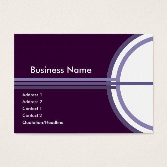 Purple Success Chubby Business Card