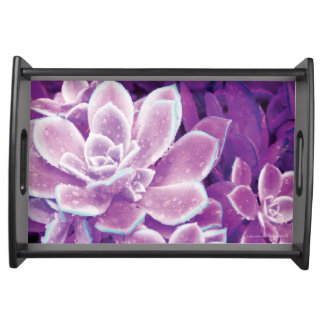 Purple Succulent - Small Serving Tray