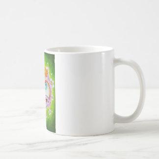 Purple sugar skull basic white mug