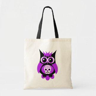 Purple Sugar Skull Owl Bag
