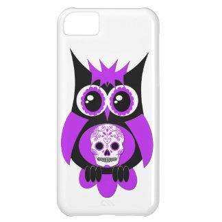 Purple Sugar Skull Owl Case iPhone 5C Cases