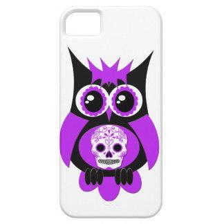 Purple Sugar Skull Owl Case iPhone 5 Cover