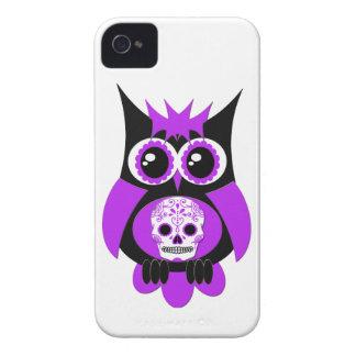 Purple Sugar Skull Owl Case iPhone 4 Case-Mate Cases