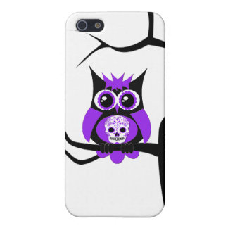 Purple Sugar Skull Owl in Tree Speck Case iPhone 5/5S Cover