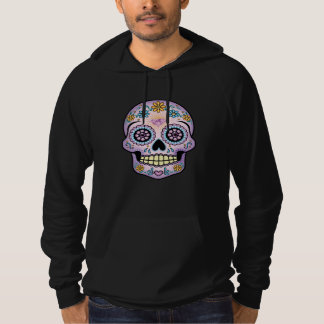 Purple Sugar Skull Pullover