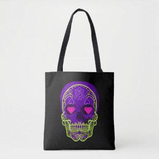 Purple Sugar Skull Tote