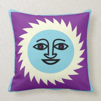 Purple Sun and quatrefoil pillow