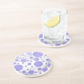 Purple Sun Polka Dot Beverage Coasters