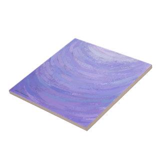 Purple Sun Small Square Tile