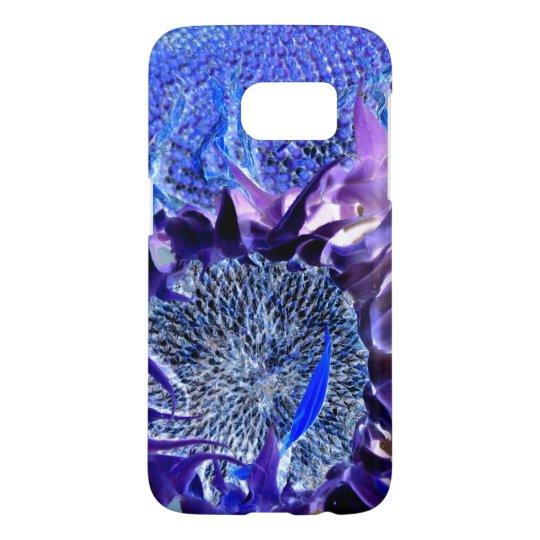 Purple Sunflower Blast Phone Case