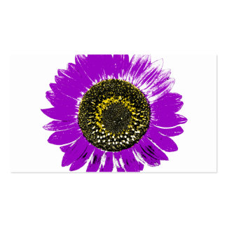 Purple Sunflower Business Card Template