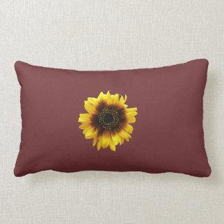 Purple sunflower pillow