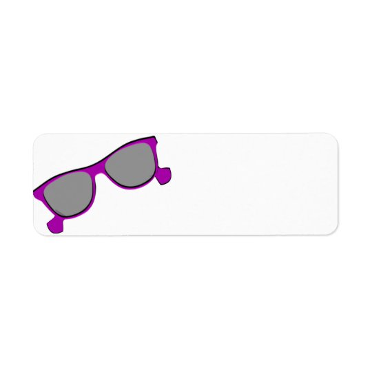 Purple Sunglasses Return Address Label