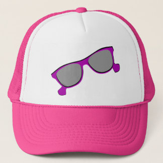 Purple Sunglasses Trucker Hat