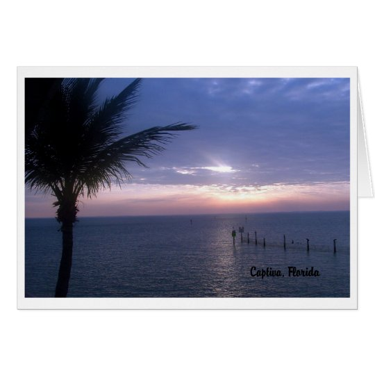 Purple Sunset blank note card