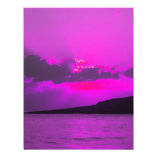Purple Sunset Personalized Flyer