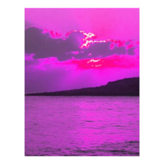 Purple Sunset Custom Flyer