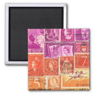 Purple Sunset Fridge Magnet, Eclectic Travel Art Magnet