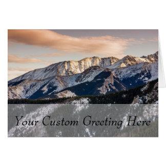 Purple Sunset Mountains Greeting Card