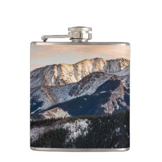 Purple Sunset Mountains Hip Flask
