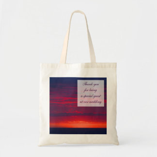 Purple Sunset Wedding Favour Bag for guests