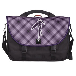 Purple Surfing Girl Bags For Laptop