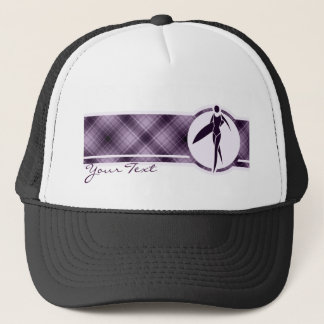 Purple Surfing Girl Trucker Hat