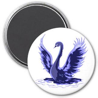 Purple Swan 7.5 Cm Round Magnet