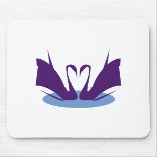 Purple Swan Mousepad