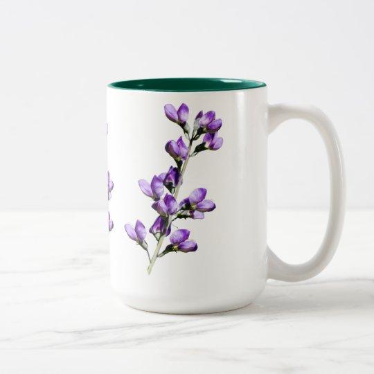 Purple Sweet Peas Flowers Customisable Mug