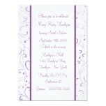 Purple Sweet Sixteen Invitation 13 Cm X 18 Cm Invitation Card
