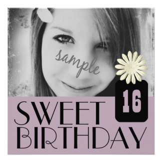 Purple Sweet Sixteenth Party for Country Girls Personalized Invite