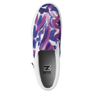 Purple Swirl-Abstract Hand Painted Brushstrokes Printed Shoes