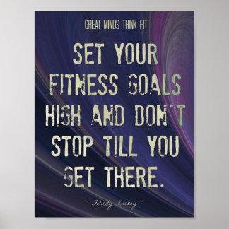 Purple Swirl and Fitness Goals 001 Print