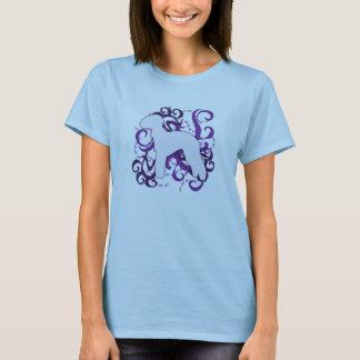 Purple Swirl Bedlington Terrier T-Shirt