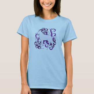 Purple Swirl Belgian Laekenois T-Shirt