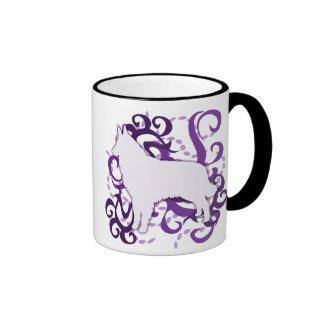 Purple Swirl Belgian Tervuren Mugs