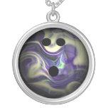 Purple Swirl Bowling Ball Pendants