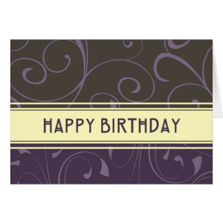 Purple Swirl Business From Group Birthday Card