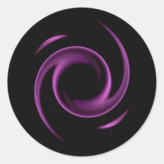 Purple Swirl Design Stickers