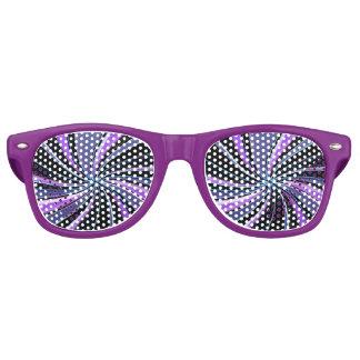 Purple Swirl Festive Party Glasses