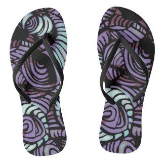 Purple Swirl Flip Flops
