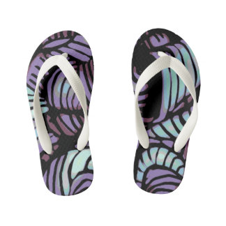 Purple Swirl flipflops