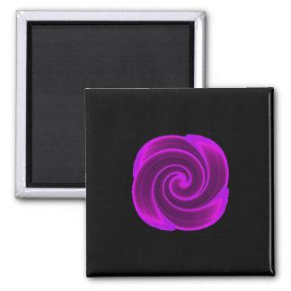 Purple Swirl Flower Magnets