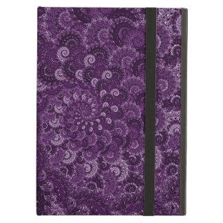 Purple Swirl Fractal Art Pattern iPad Air Cover