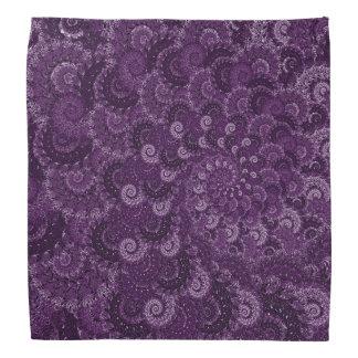 Purple Swirl Fractal Art Pattern Bandanna