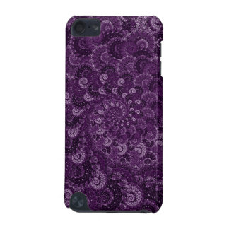 Purple Swirl Fractal Pattern iPod Touch (5th Generation) Cases
