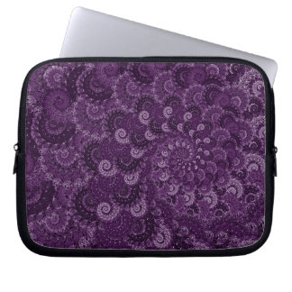 Purple Swirl Fractal Pattern Laptop Sleeve